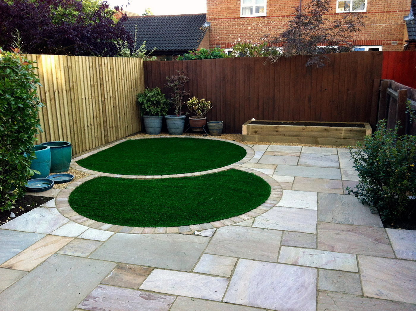 Marvelous Artificial Grass, Perfect For Covering Tired Patios Or Paving.