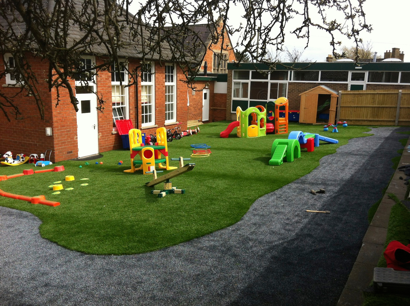 Artificial grass play areas for Toddler play places